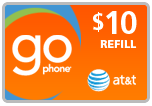 Buy the $10.00 AT&T Go Phone PIN Refill Minutes Instant Prepaid Airtime | On SALE for Only $9.79