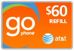 Buy the $60.00 AT&T Go Phone PIN Refill Minutes Instant Prepaid Airtime | On SALE for Only $58.49