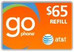 Buy the $65.00 AT&T Go Phone PIN Refill Minutes Instant Prepaid Airtime | On SALE for Only $63.49