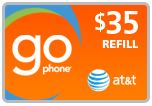 Buy the $35.00 AT&T Go Phone PIN Refill Minutes Instant Prepaid Airtime | On SALE for Only $34.29