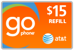<s>$15.00</s> $14.69 AT&T Go Phone Wireless Refill Minutes