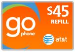 $43.99 AT&T Go Phone PIN Refill Airtime Minutes