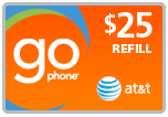<s>$25.00</s> $24.49 AT&T Go Phone Wireless Refill Minutes