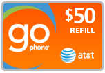 <s>$50.00</s> $48.99 AT&T Go Phone Wireless Refill Minutes