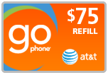 <s>$75.00</s> $72.99 AT&T Go Phone Wireless Refill Minutes