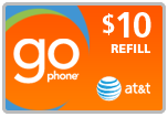 $9.79 AT&T Go Phone PIN Refill Airtime Minutes