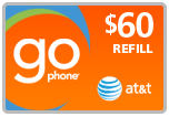 $58.49 AT&T Go Phone PIN Refill Airtime Minutes