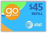 $43.99 AT&T Go Phone Real-Time Refill