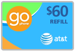 $58.49 AT&T Go Phone Real-Time Refill