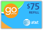 $72.99 AT&T Go Phone Real-Time Refill