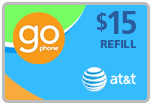 Buy the $15.00 AT&T Go Phone Real Time Refill Minutes | On SALE for Only $14.69