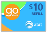 Buy the $10.00 AT&T Go Phone Real Time Refill Minutes | On SALE for Only $9.79
