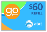 Buy the $60.00 AT&T Go Phone Real Time Refill Minutes | On SALE for Only $58.49