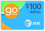 Buy the $100.00 AT&T Go Phone Real Time Refill Minutes | On SALE for Only $96.99
