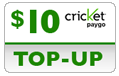 $9.99 Cricket PAYgo Refill Airtime Minutes