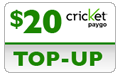 $19.89 Cricket PAYgo Refill Airtime Minutes