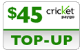 $44.69 Cricket PAYgo Refill Airtime Minutes
