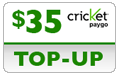 $34.79 Cricket PAYgo Refill Airtime Minutes
