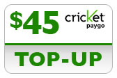 Buy the $45.00 Cricket PAYgo Refill Minutes Instant Prepaid Airtime | On SALE for Only $44.69