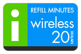 Buy the $20.00 I-Wireless Refill Minutes Instant Prepaid Airtime | On SALE for Only $19.89