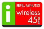 Buy the $45.00 I-Wireless Refill Minutes Instant Prepaid Airtime | On SALE for Only $44.79