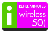 Buy the $50.00 I-Wireless Refill Minutes Instant Prepaid Airtime | On SALE for Only $49.69