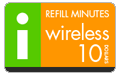 $9.95 I-Wireless Refill Airtime Minutes