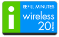 $19.89 I-Wireless Refill Airtime Minutes