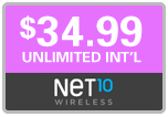$34.99 Net10 Refill Airtime Minutes