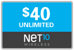 $39.89 Net10 Refill Airtime Minutes