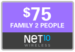 $74.95 Net10 Refill Airtime Minutes