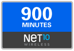 900 Net10 Wireless Refill Minutes, 90 days on SALE $58.79