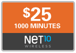 750 Net10 Wireless Refill Minutes, 30 days on SALE $24.49