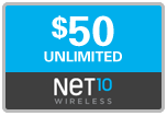 Net10 Unlimited Minutes, Text & Data, 30 days on SALE $49.79