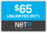 Buy the $65.00 Net10 Refill Minutes Instant Prepaid Airtime | On SALE for Only $64.69