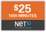 Buy the $25.00 Net10 Refill Minutes Instant Prepaid Airtime | On SALE for Only $24.49