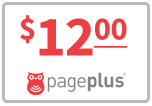 $12.00 Page Plus Refill Airtime Minutes