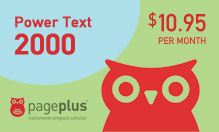 Page Plus Power Text 2,000 for SALE $10.95