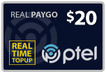$19.90 PlatinumTel (Ptel) TopUp Real-Time Refill