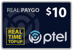 Buy the $10.00 PlatinumTel (Ptel) TopUp Real Time Refill Minutes | On SALE for Only $9.95