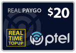 Buy the $20.00 PlatinumTel (Ptel) TopUp Real Time Refill Minutes | On SALE for Only $19.90