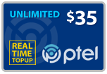 Buy the $35.00 PlatinumTel (Ptel) TopUp Real Time Refill Minutes | On SALE for Only $34.89