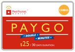 $24.89 Red Pocket Mobile Refill Airtime Minutes