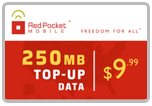 $9.95 Red Pocket Mobile Refill Airtime Minutes