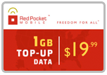 $19.89 Red Pocket Mobile Refill Airtime Minutes