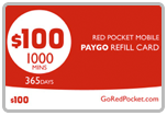 $98.99 Red Pocket Mobile Refill Airtime Minutes