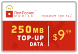 Buy the $9.99 Red Pocket Mobile Refill Minutes Instant Prepaid Airtime | On SALE for Only $9.95