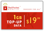 Buy the $19.99 Red Pocket Mobile Refill Minutes Instant Prepaid Airtime | On SALE for Only $19.89
