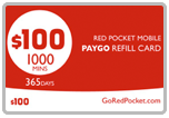 Buy the $100.00 Red Pocket Mobile Refill Minutes Instant Prepaid Airtime | On SALE for Only $98.99