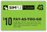 Buy the $10.00 Simple Mobile Refill Minutes Instant Prepaid Airtime | On SALE for Only $9.95